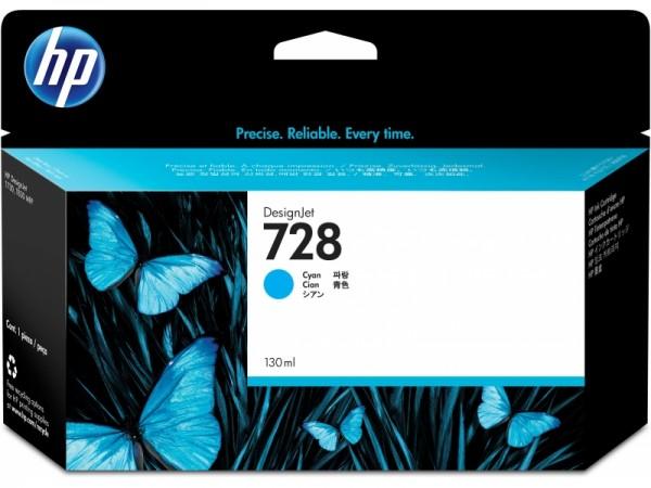 HP Vivera Tinte Nr. 728 cyan, 130ml