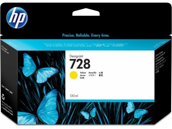 HP Vivera Tinte Nr. 728 yellow, 130ml